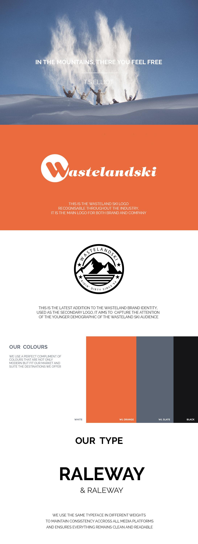 Wasteland Ski Brand Identity